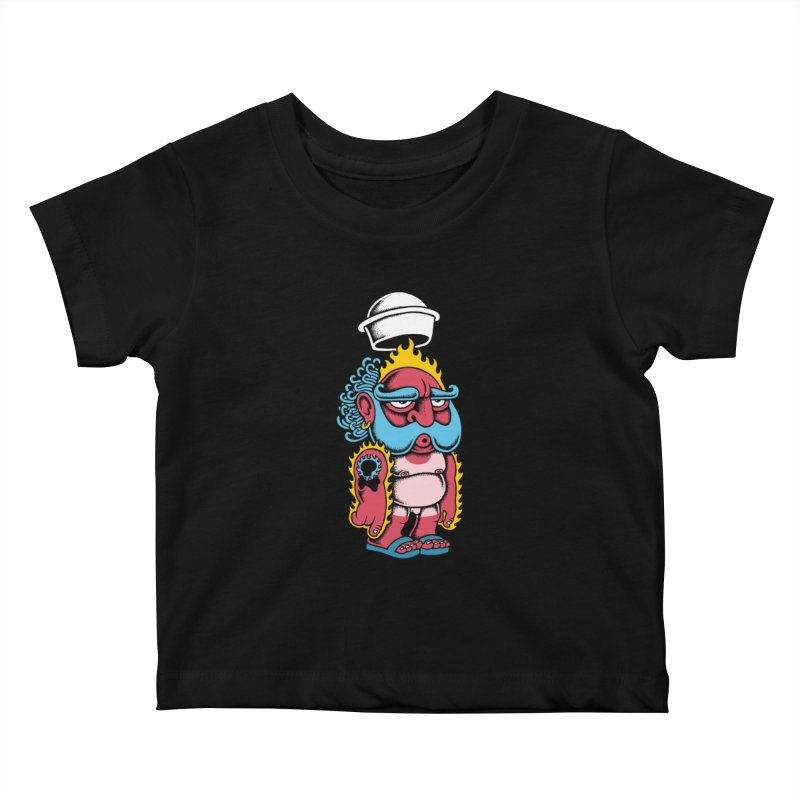 Sunburn Kids Baby T-Shirt by cphposter's Artist Shop