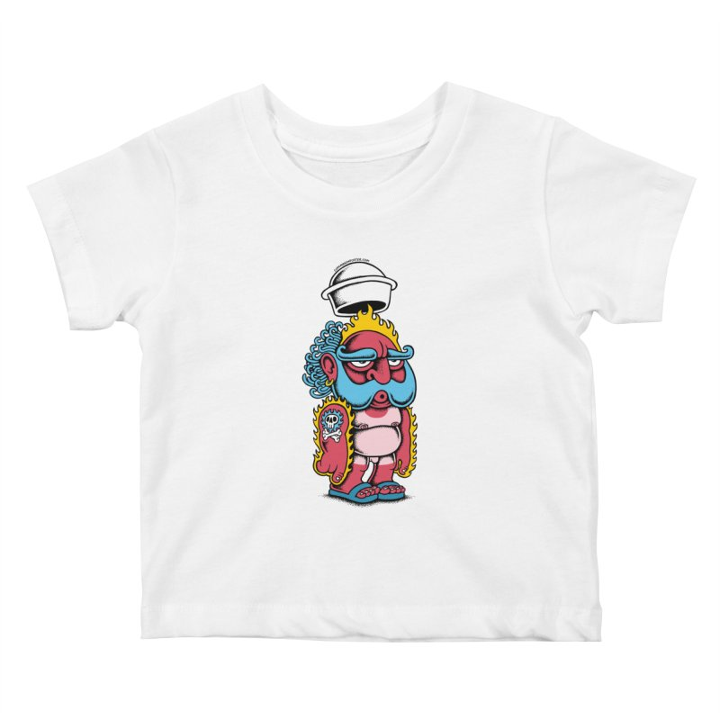 Sunburn Kids Baby T-Shirt by cphposter's Artist Shop