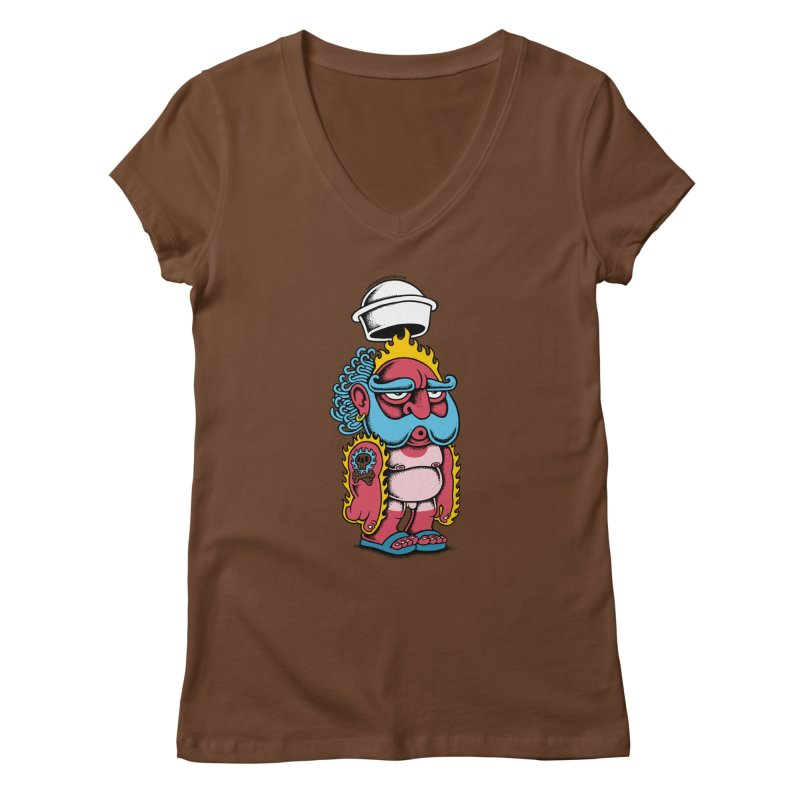 Sunburn Women's V-Neck by cphposter's Artist Shop