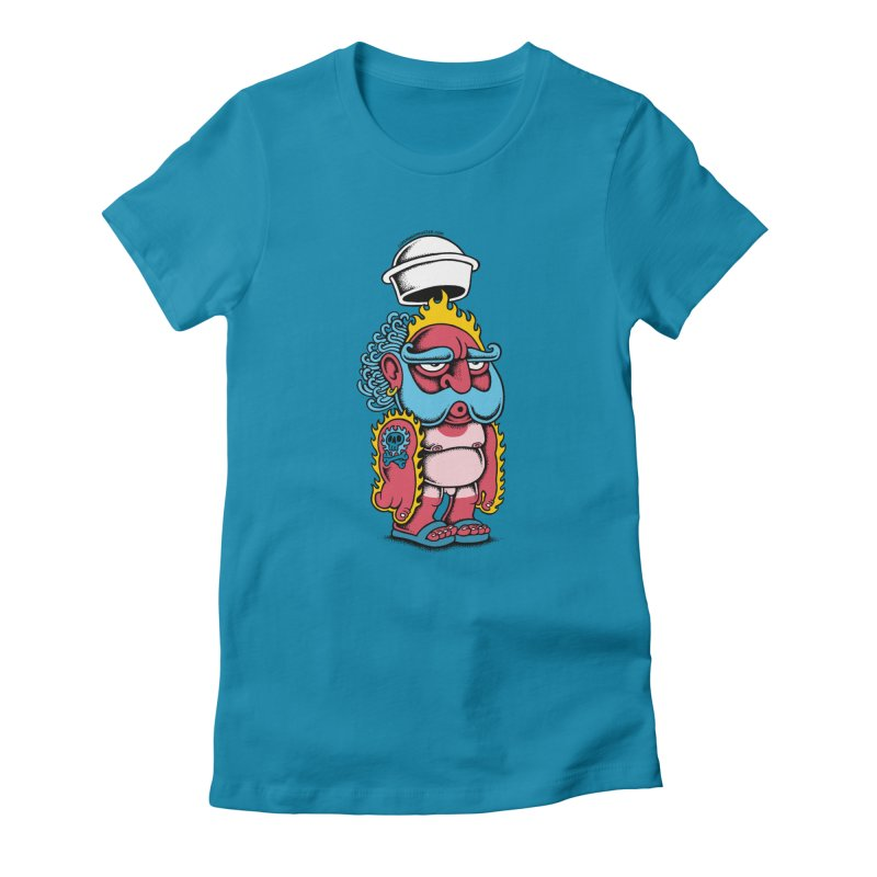 Sunburn Women's Fitted T-Shirt by cphposter's Artist Shop