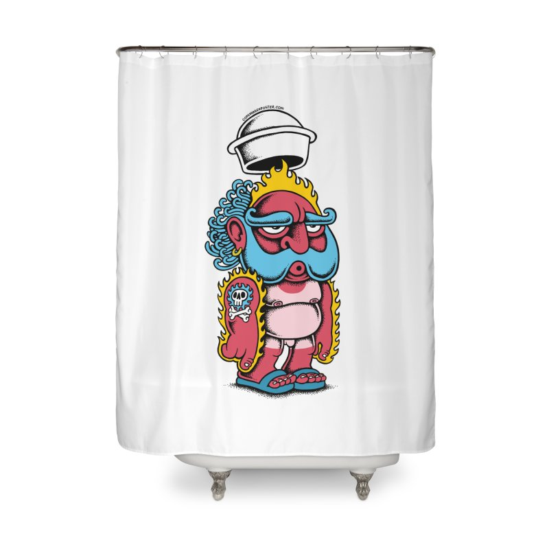 Sunburn Home Shower Curtain by cphposter's Artist Shop