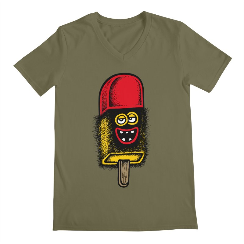Hairy Ice Lolly Men's V-Neck by cphposter's Artist Shop
