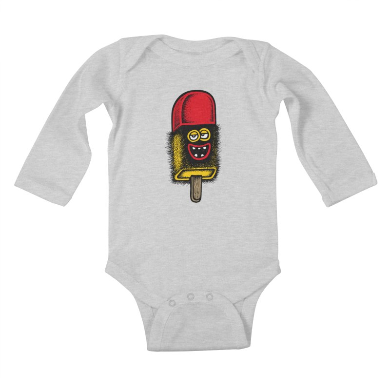 Hairy Ice Lolly Kids Baby Longsleeve Bodysuit by cphposter's Artist Shop