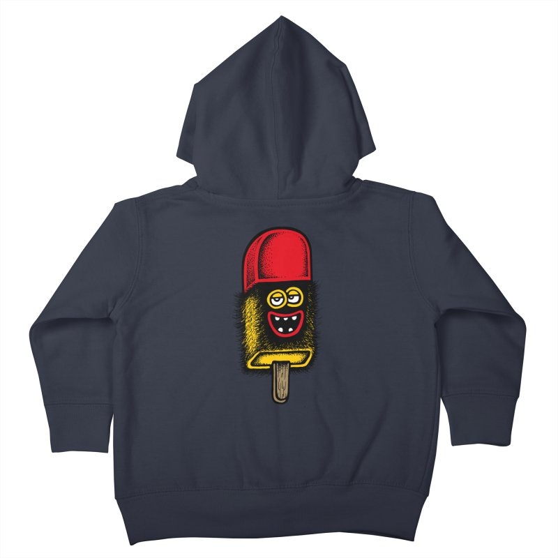 Hairy Ice Lolly Kids Toddler Zip-Up Hoody by cphposter's Artist Shop
