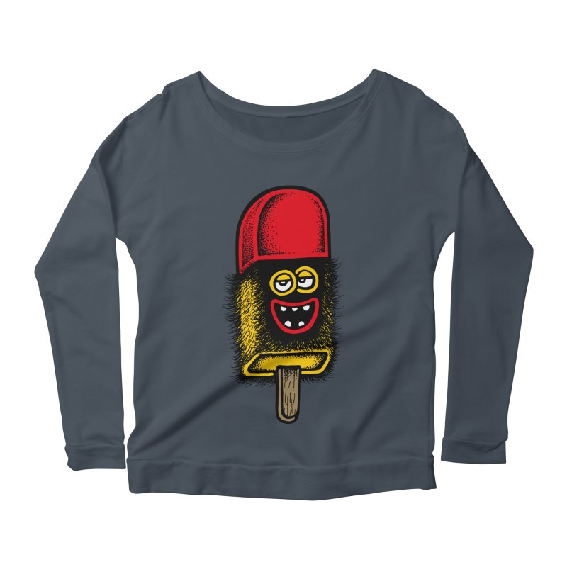 Hairy Ice Lolly Women's Longsleeve Scoopneck  by cphposter's Artist Shop