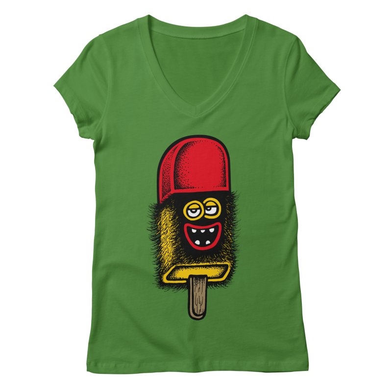 Hairy Ice Lolly Women's V-Neck by cphposter's Artist Shop