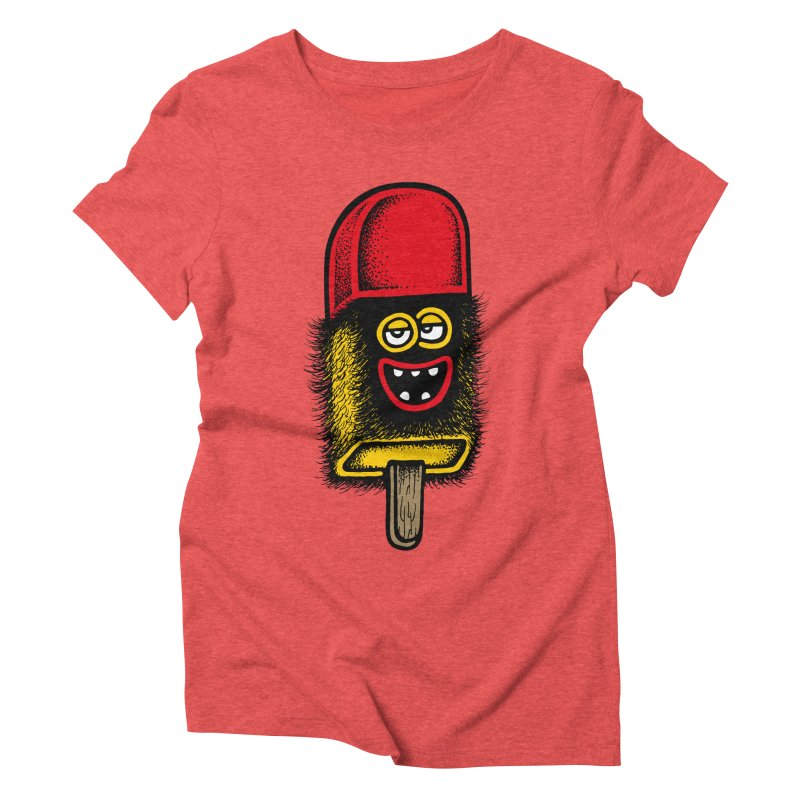 Hairy Ice Lolly Women's Triblend T-shirt by cphposter's Artist Shop