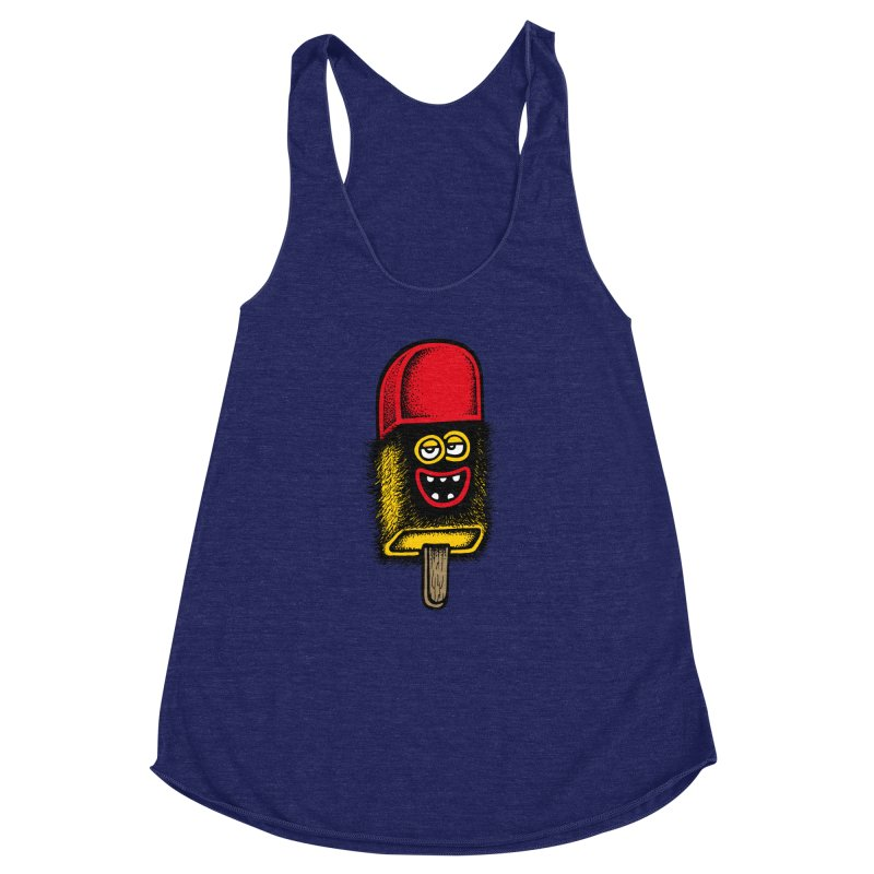 Hairy Ice Lolly Women's Racerback Triblend Tank by cphposter's Artist Shop