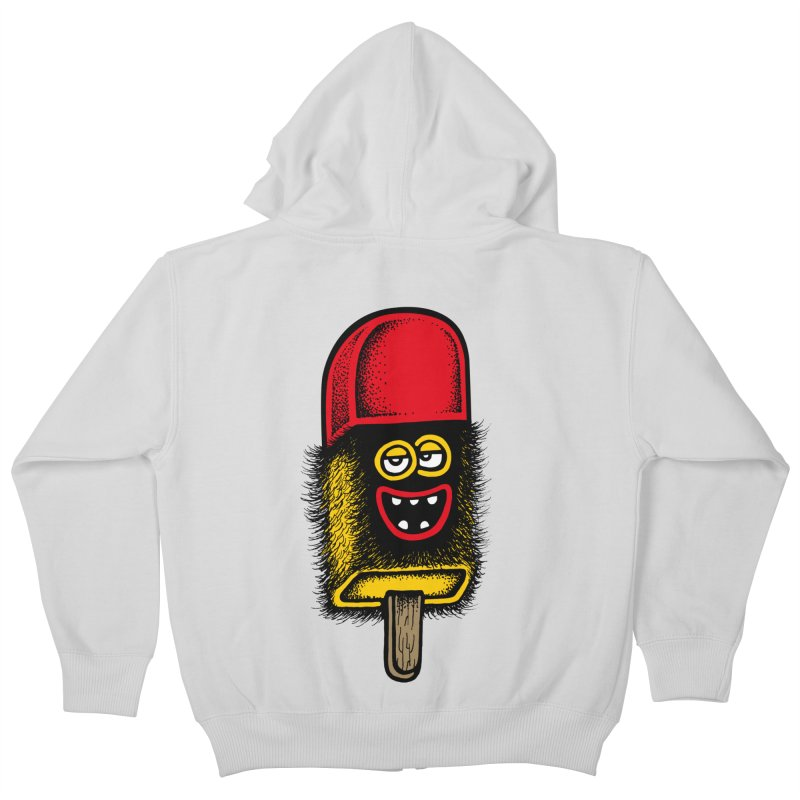 Hairy Ice Lolly Kids Zip-Up Hoody by cphposter's Artist Shop