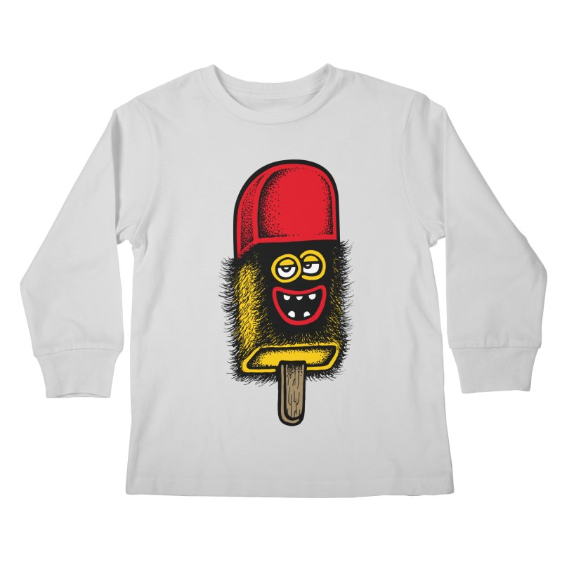 Hairy Ice Lolly Kids Longsleeve T-Shirt by cphposter's Artist Shop