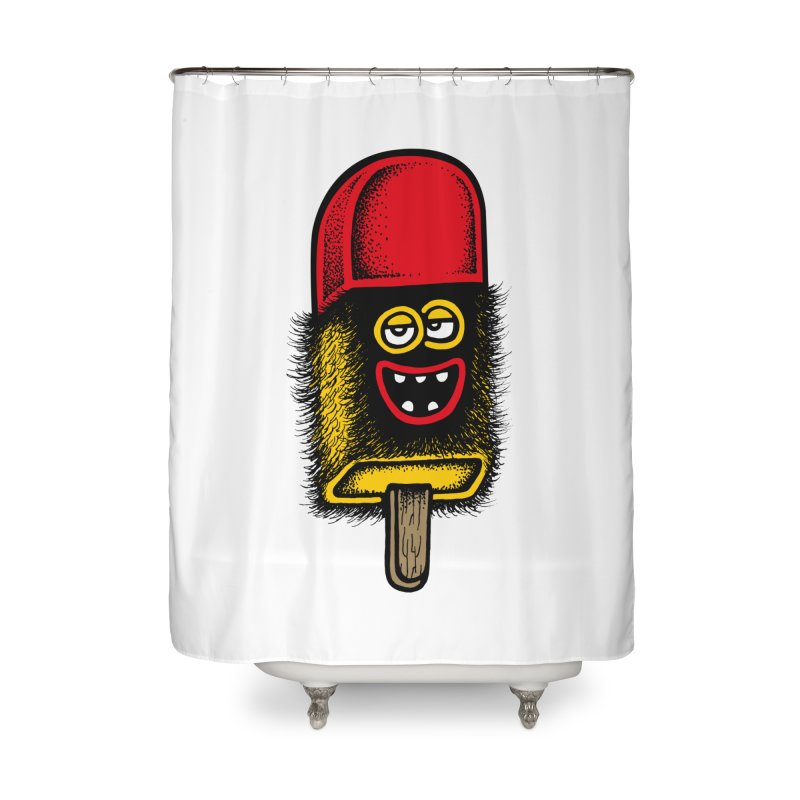 Hairy Ice Lolly Home Shower Curtain by cphposter's Artist Shop