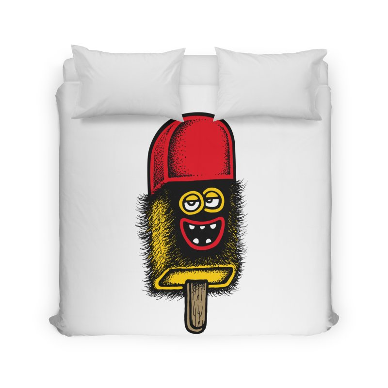 Hairy Ice Lolly Home Duvet by cphposter's Artist Shop