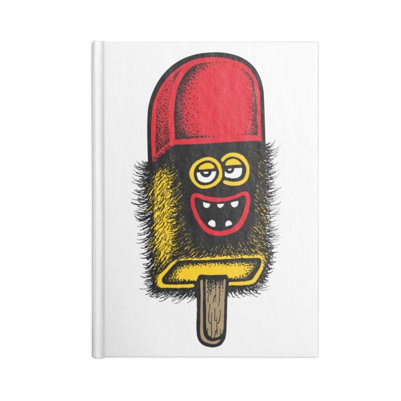 Hairy Ice Lolly Accessories Notebook by cphposter's Artist Shop