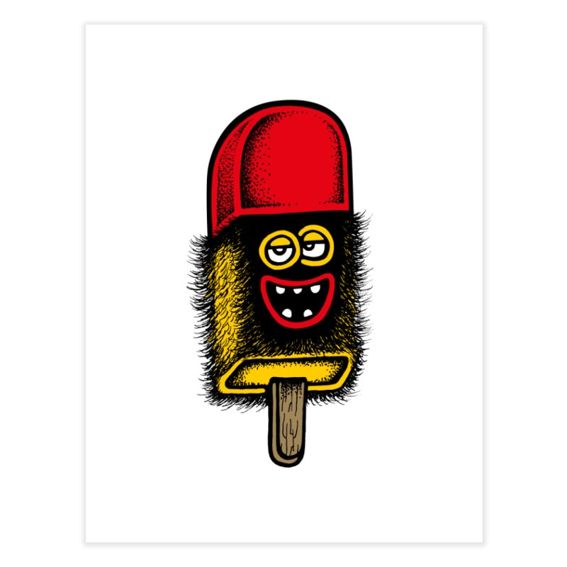 Hairy Ice Lolly Home Fine Art Print by cphposter's Artist Shop