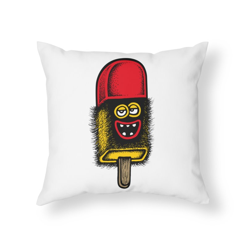 Hairy Ice Lolly Home Throw Pillow by cphposter's Artist Shop