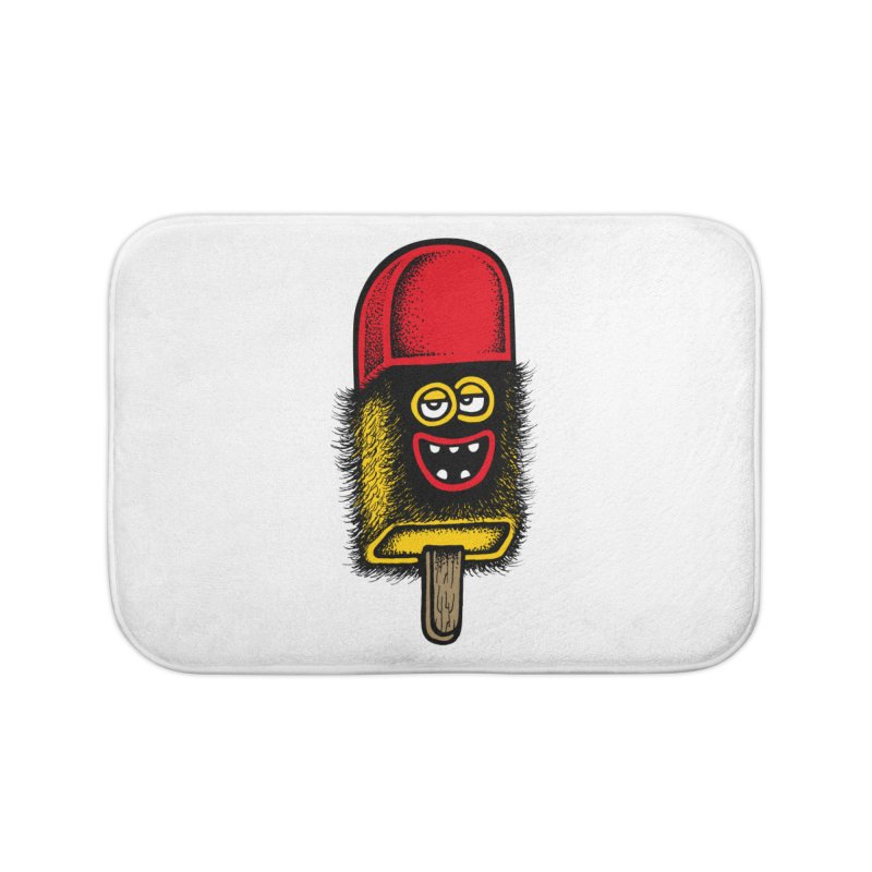 Hairy Ice Lolly Home Bath Mat by cphposter's Artist Shop