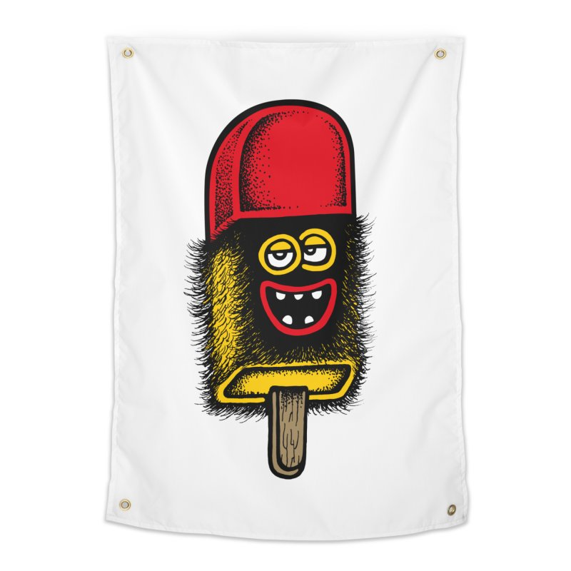Hairy Ice Lolly Home Tapestry by cphposter's Artist Shop