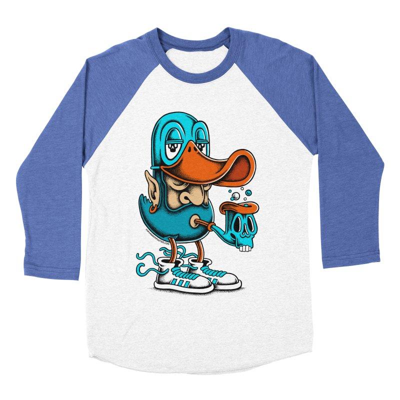 Duckface Men's Baseball Triblend T-Shirt by cphposter's Artist Shop