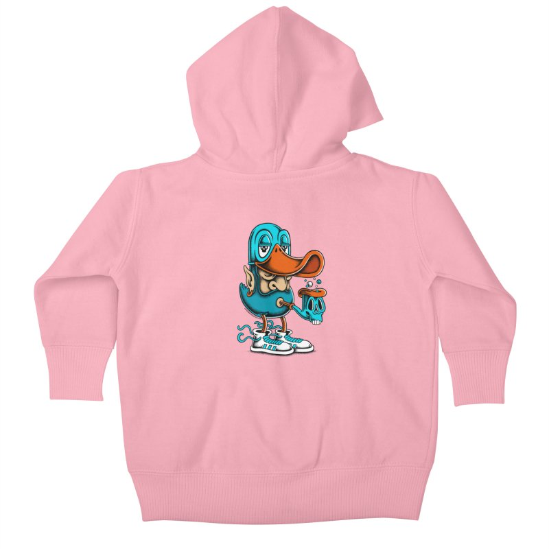Duckface Kids Baby Zip-Up Hoody by cphposter's Artist Shop