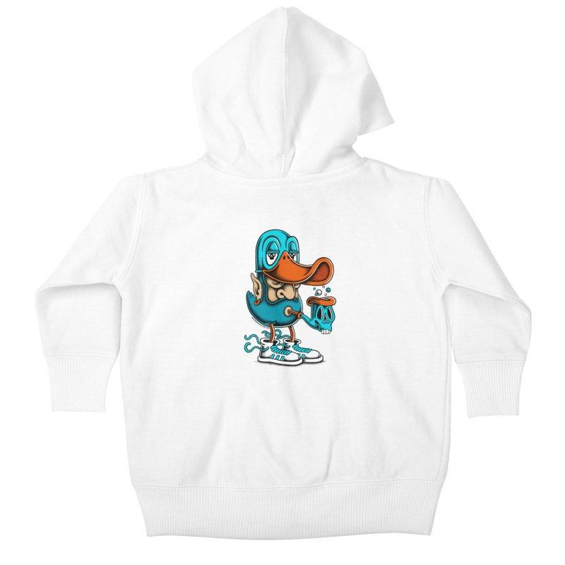 Duckface Kids Baby Zip-Up Hoody by cphposter's Artist Shop