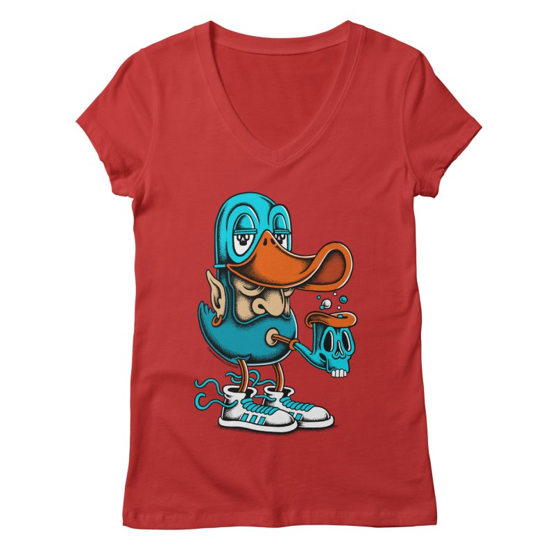 Duckface Women's V-Neck by cphposter's Artist Shop