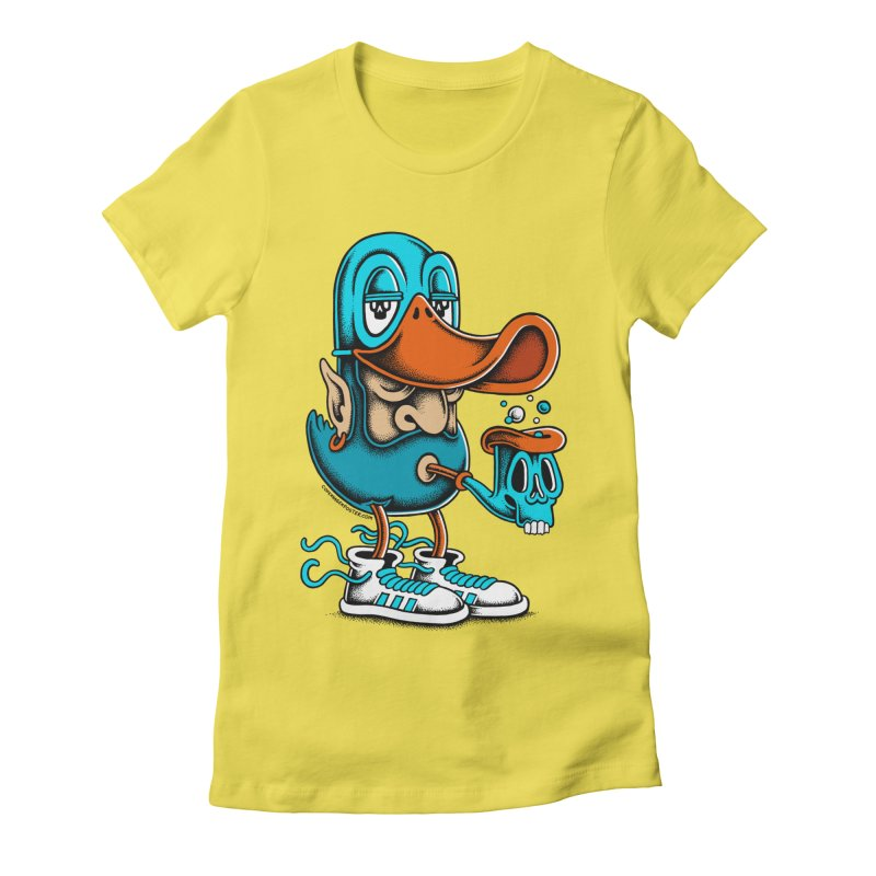 Duckface Women's Fitted T-Shirt by cphposter's Artist Shop