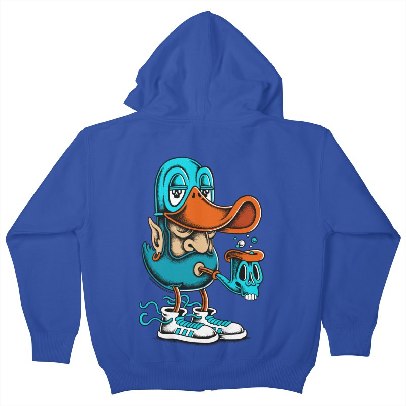Duckface Kids Zip-Up Hoody by cphposter's Artist Shop
