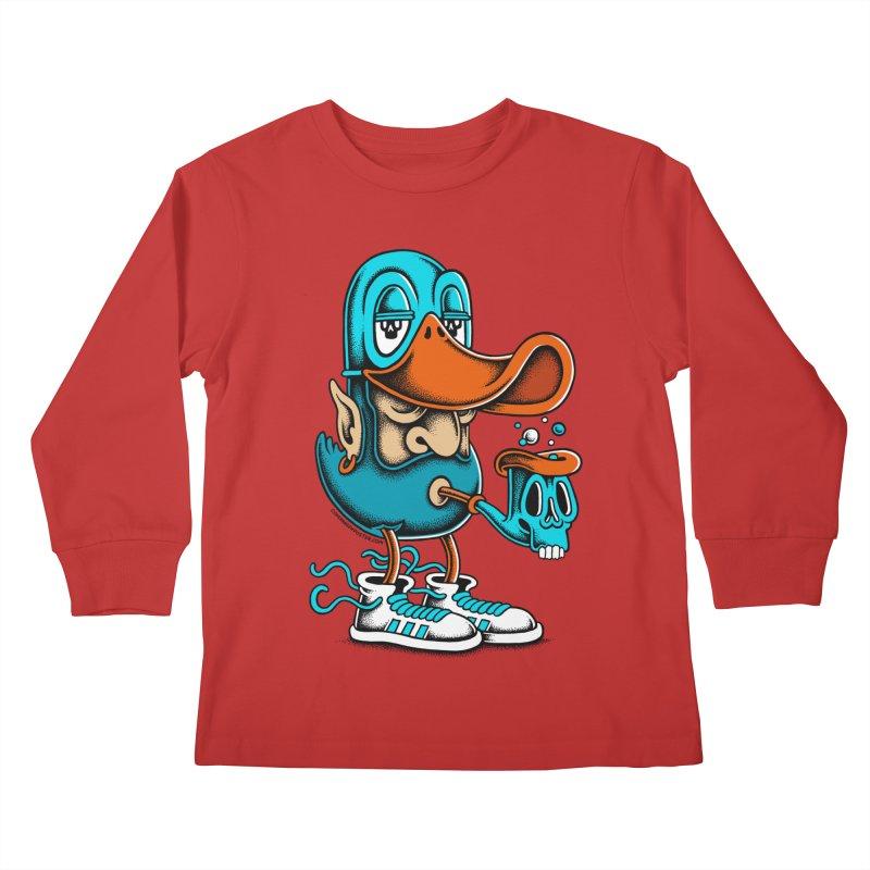 Duckface Kids Longsleeve T-Shirt by cphposter's Artist Shop