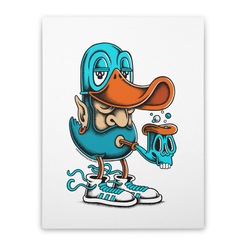 Duckface Home Stretched Canvas by cphposter's Artist Shop