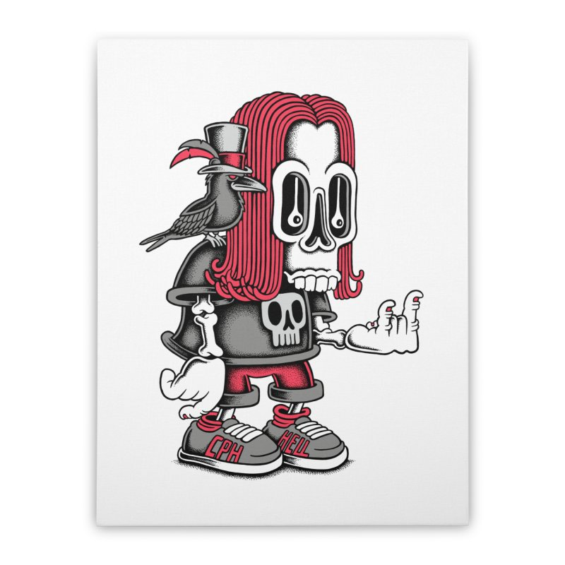 Heavy Metal Home Stretched Canvas by cphposter's Artist Shop