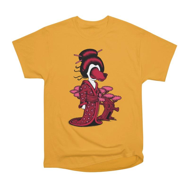 Wolf Geisha Men's Heavyweight T-Shirt by cphposter's Artist Shop