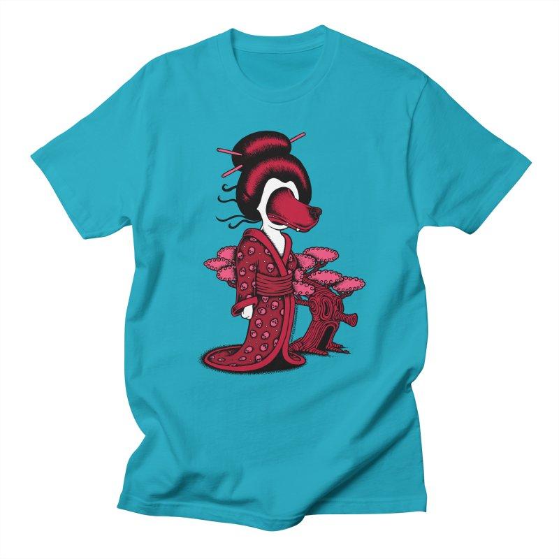 Wolf Geisha Men's T-shirt by cphposter's Artist Shop