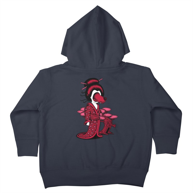 Wolf Geisha Kids Toddler Zip-Up Hoody by cphposter's Artist Shop