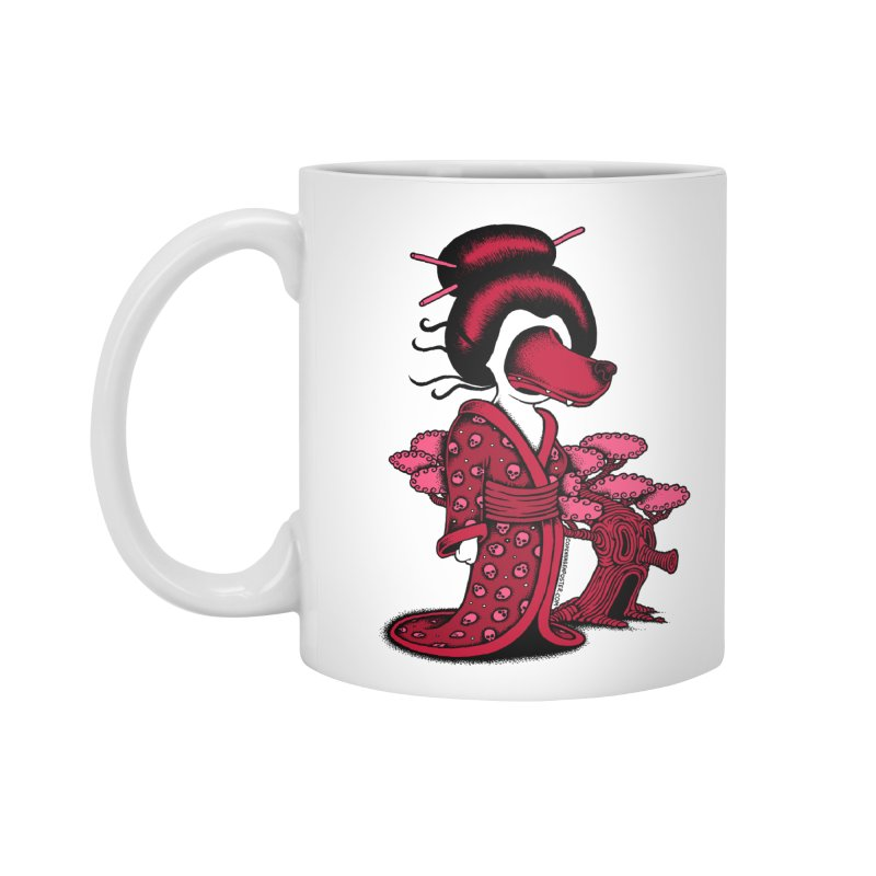 Wolf Geisha Accessories Mug by cphposter's Artist Shop