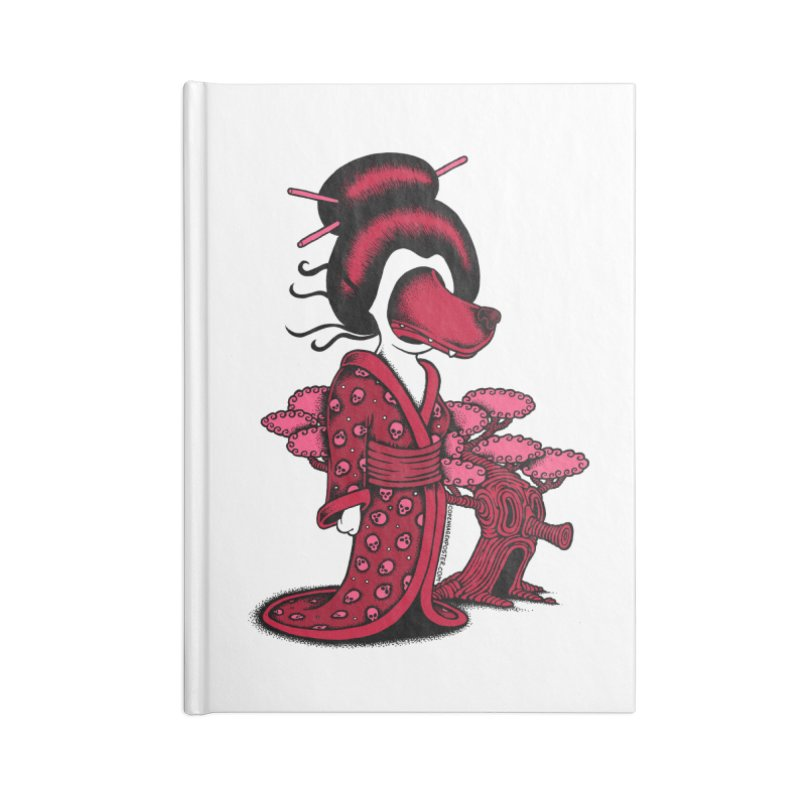 Wolf Geisha Accessories Notebook by cphposter's Artist Shop