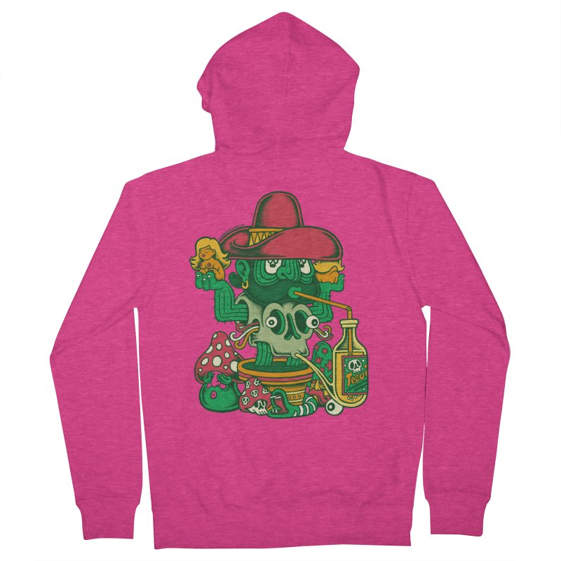 Mr. Cactus Women's Zip-Up Hoody by cphposter's Artist Shop