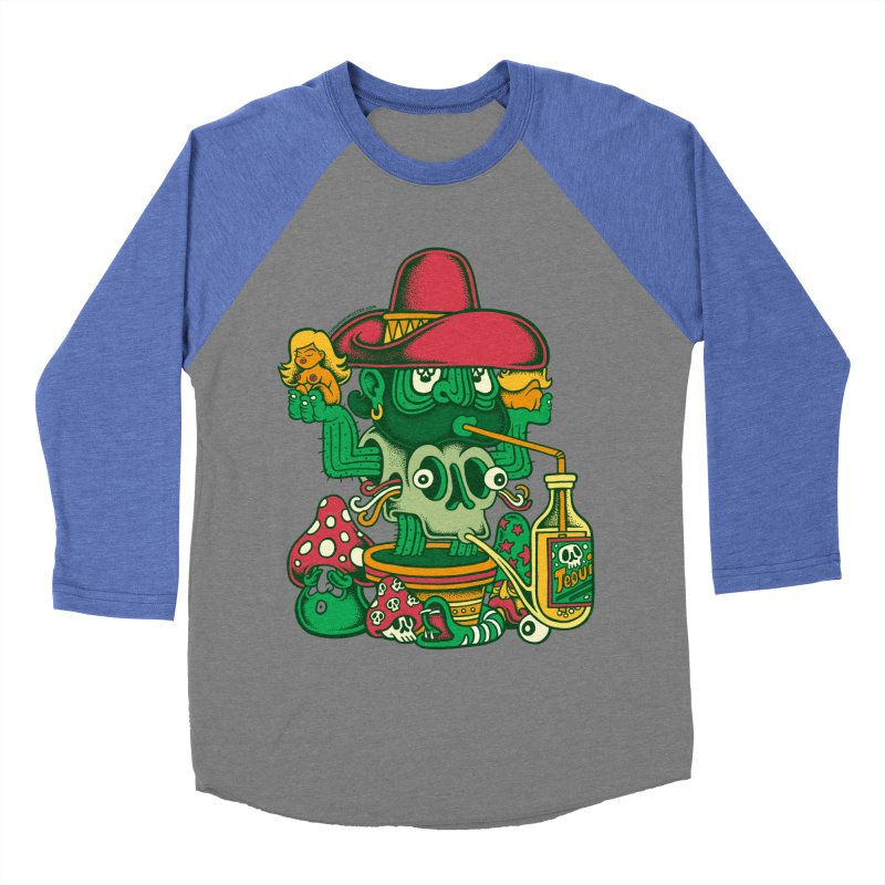 Mr. Cactus Men's Baseball Triblend T-Shirt by cphposter's Artist Shop