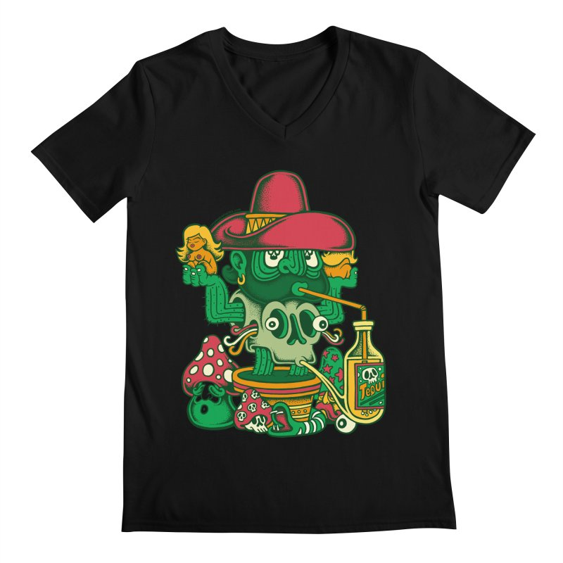 Mr. Cactus Men's Regular V-Neck by cphposter's Artist Shop