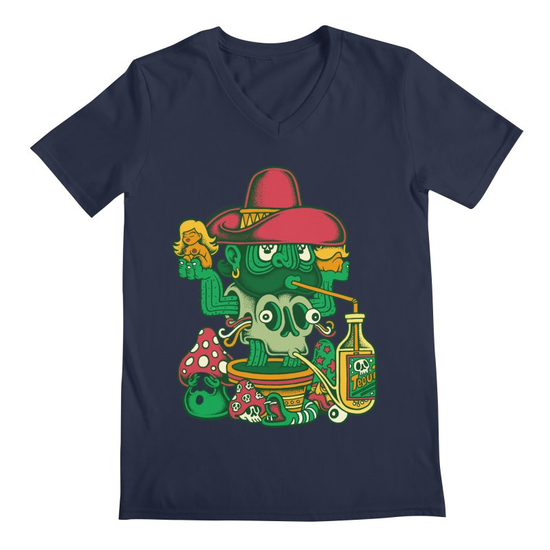 Mr. Cactus Men's V-Neck by cphposter's Artist Shop