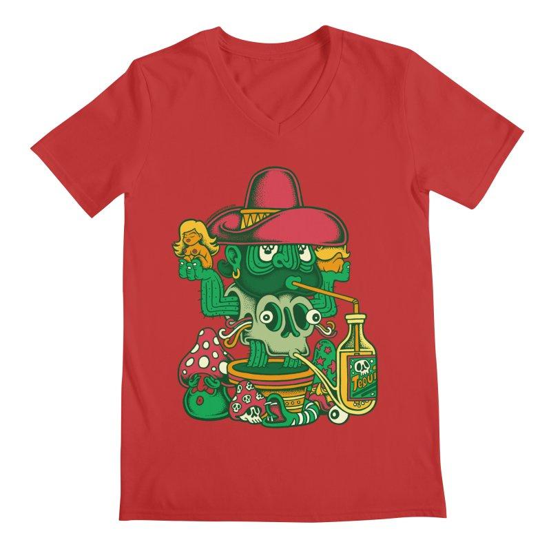 Mr. Cactus Men's V-Neck by cphposter's Artist Shop
