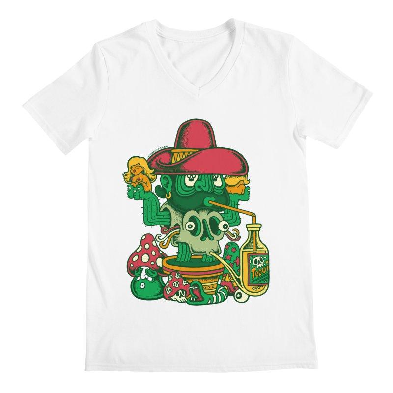 Mr. Cactus Men's Regular V-Neck by cphposter's Artist Shop