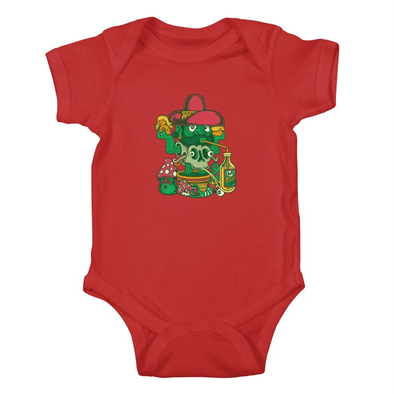 Mr. Cactus Kids Baby Bodysuit by cphposter's Artist Shop