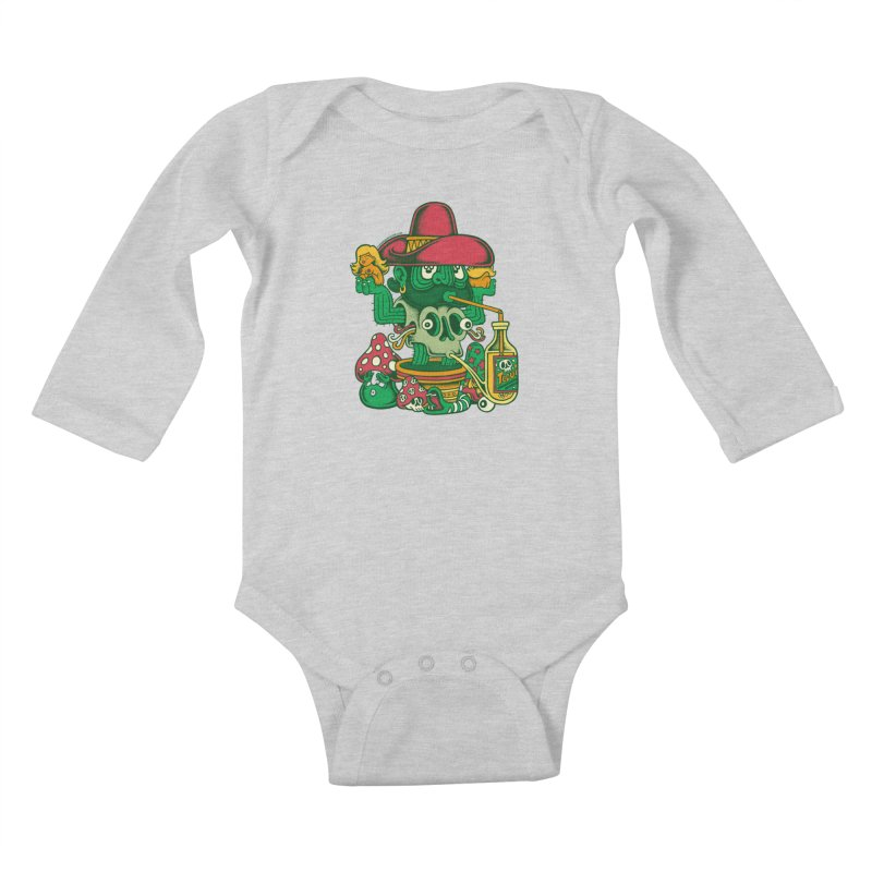 Mr. Cactus Kids Baby Longsleeve Bodysuit by cphposter's Artist Shop