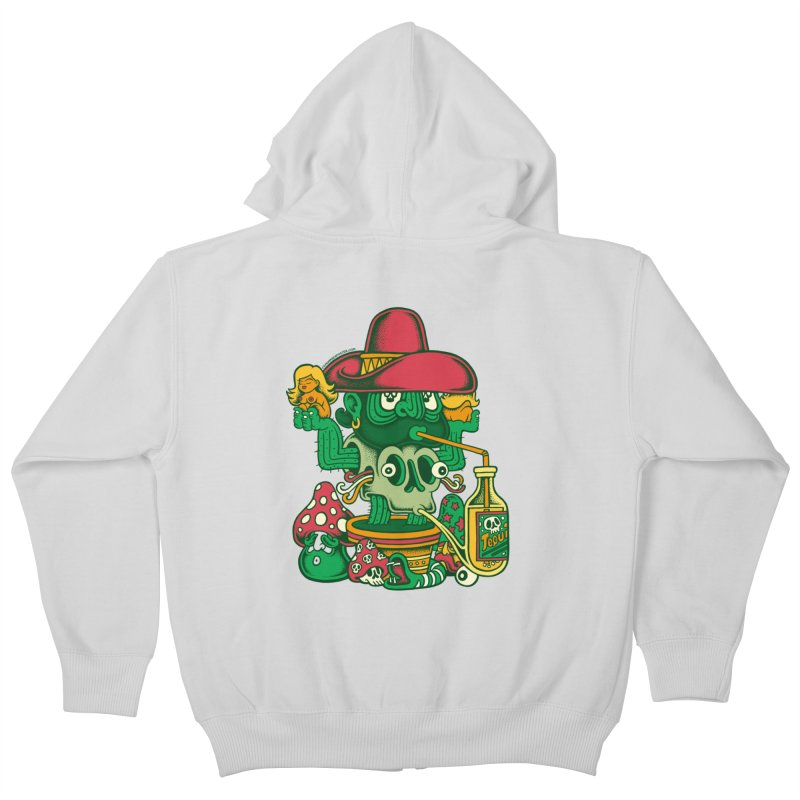 Mr. Cactus Kids Zip-Up Hoody by cphposter's Artist Shop
