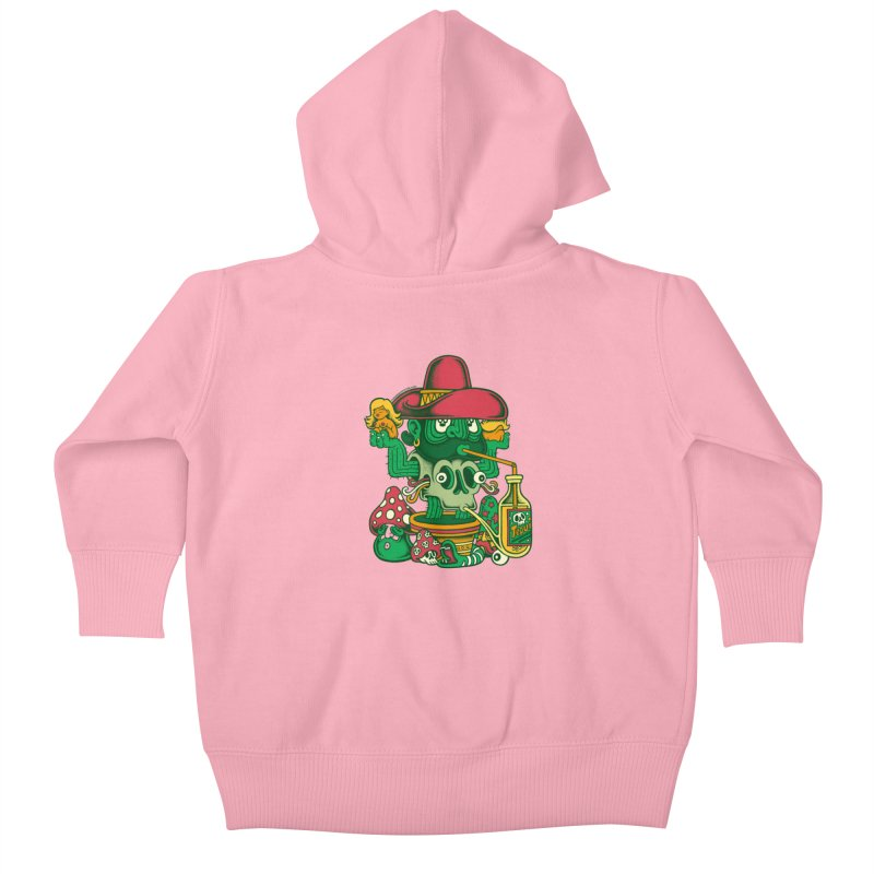 Mr. Cactus Kids Baby Zip-Up Hoody by cphposter's Artist Shop