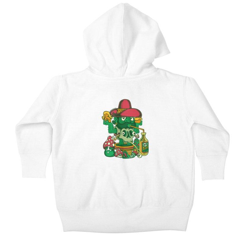 Mr. Cactus Kids Baby Zip-Up Hoody by cphposter's Artist Shop