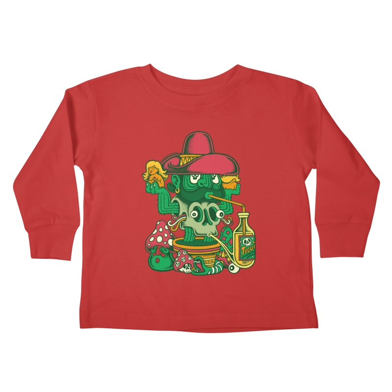 Mr. Cactus Kids Toddler Longsleeve T-Shirt by cphposter's Artist Shop