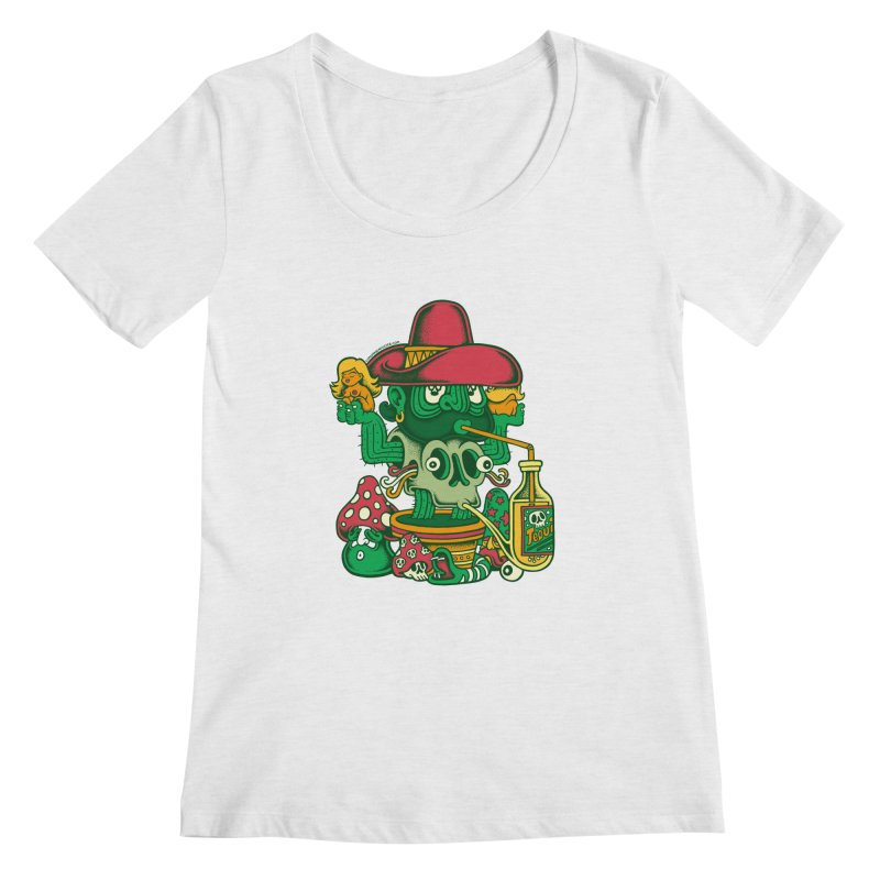 Mr. Cactus Women's Scoopneck by cphposter's Artist Shop