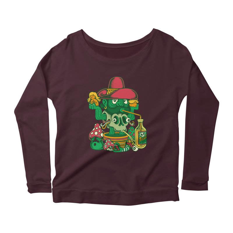 Mr. Cactus Women's Longsleeve Scoopneck  by cphposter's Artist Shop