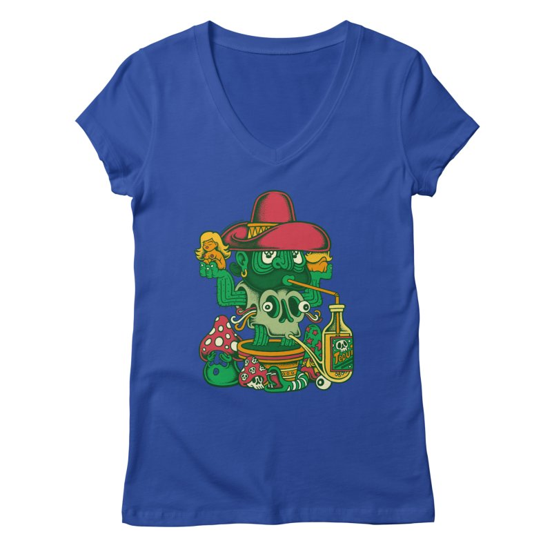 Mr. Cactus Women's V-Neck by cphposter's Artist Shop